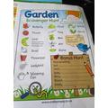 Garden Scavenger Hunt completed!