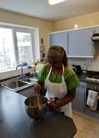 Mrs Frericks baking