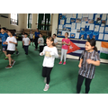 Having a great dance session learning the Salsa.