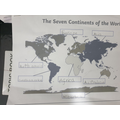 Hashim knows the continents of the world