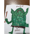 Hashim's troll drawing.