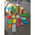 Sara and Dua have made 2D and 3D shapes