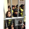 A cell door!