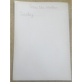 Next write the day of the week.