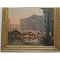 Nottingham Old Market Place-1920.Arthur Spooner.