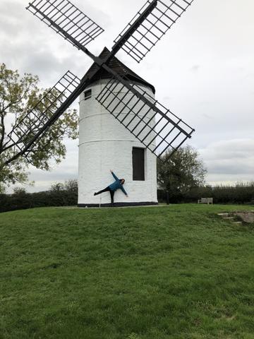 Mrs Holt being a windmill!