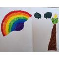 Sara's colourful rainbow.