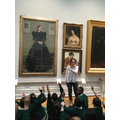 The children visited the castle art gallery.