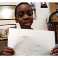 Oheneba has drawn a great swan picture.