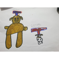 Hashim's drawing of Spencer and Cornetto.