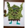 Hashim transformed his troll using collage.