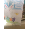 Layla's been making Easter cards.