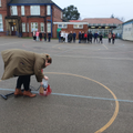 Watching Year 5s rocket get pumped up to fly!