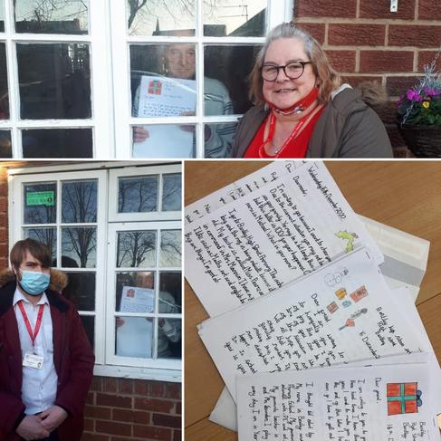 Children wrote letters to care home residents to lift their spirits during lockdown