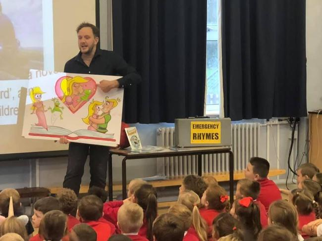 School workshop with a visit from an author