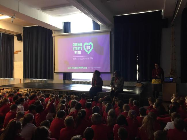 Anti-bullying assembly with a focus on racism led by parents