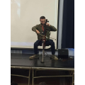 Stephen Donoghue playing live music in school