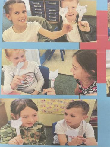 Year 3 using finger puppets to practise asking and answering questions