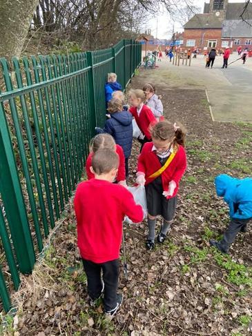 School council litter picking