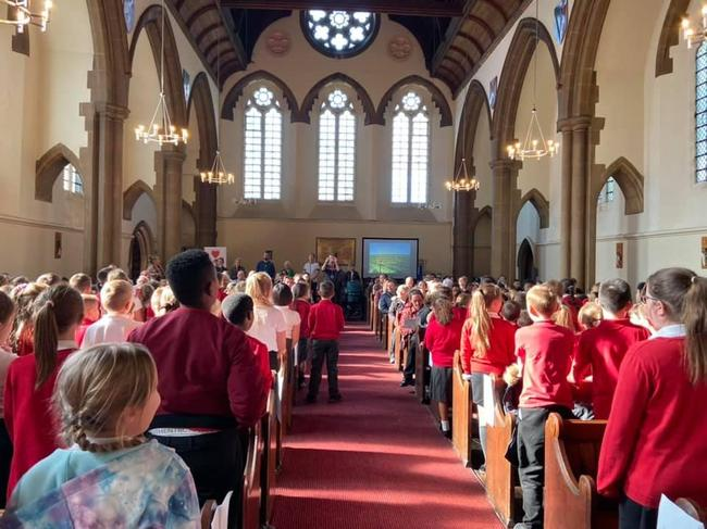 Regular visits as a whole school to the local church