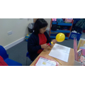 Science experiment- Balloon Rocket