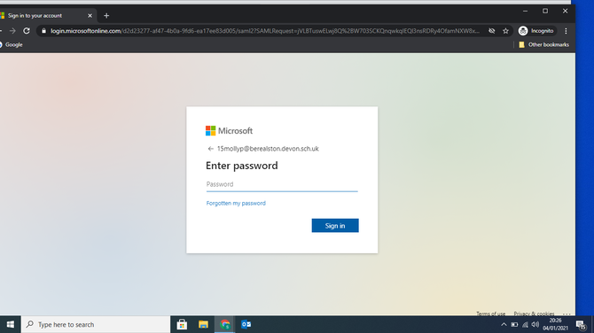 Enter your login again and then password.