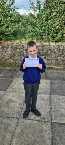 We are super proud of Riley for his achievements in Maths this week, well done!