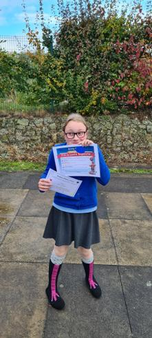 What a week, Celebration award and a Lexia certificate. Well done Emily.