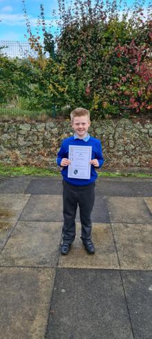 Gold Dojo certificate. Well done Jackson.
