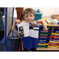 Barney shares his transition booklet which he wrote for his new Year 1 Teachers