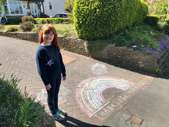 Molly M has been busy thanking the NHS.