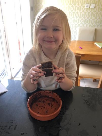 Isla has had great fun planting flowers.