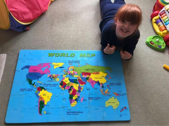 A great way to learn the continents and oceans.