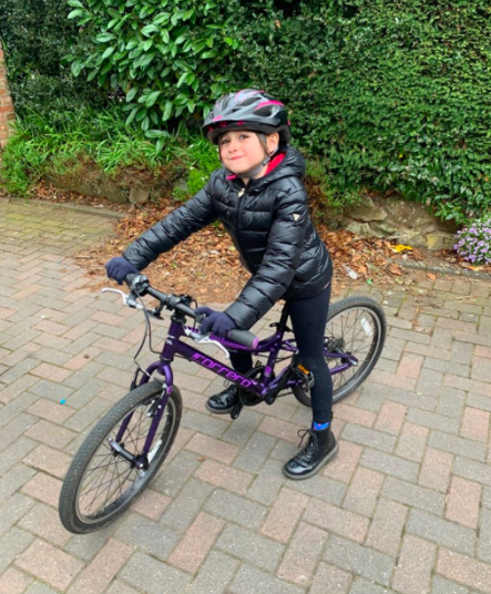 Rose is cycling regularly - amazing!