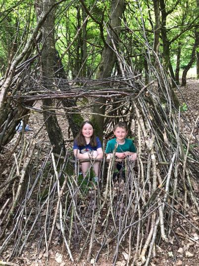 Great den building George and Evie!