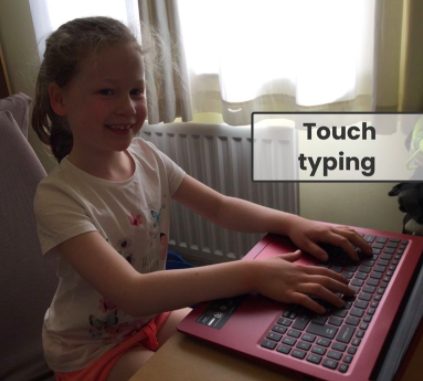 Touch typing practise.