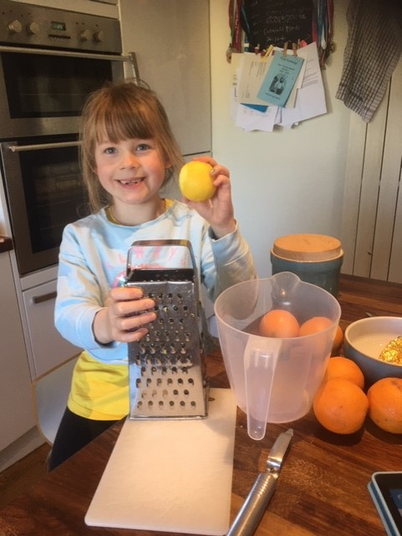Molly has been making yummy lemonade.