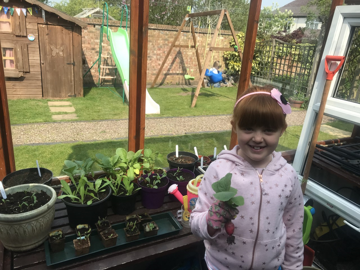 Molly M has been growing her own vegetables.