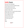 Simra has written a DARE poem