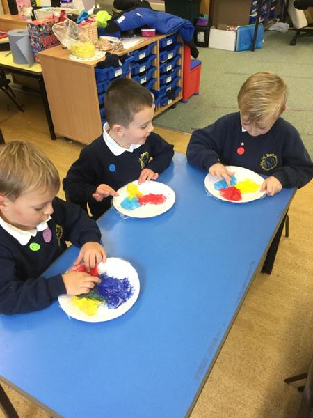 mixing colours to make new colours