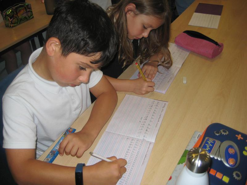 Concentrating hard during handwriting
