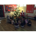 Santa came to visit - how exciting!