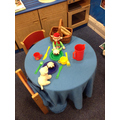 Elfie the Elf set up a tea party!