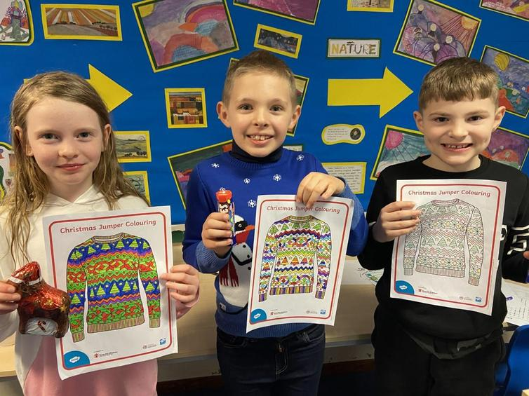 Well done to the Christmas jumper colouring competition winners!