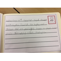 Makayla writing on behalf of Mrs Price's class