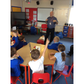 Dean came from the NHS and taught us about CPR