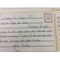 Daisy writing on behalf of Miss Pickering's class