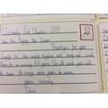 Daisy writing on behalf of Miss Pickering's class