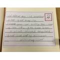 Nishaan writing on behalf of Mrs Mapxencar's class