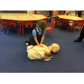 We got to have a go at saving a life!